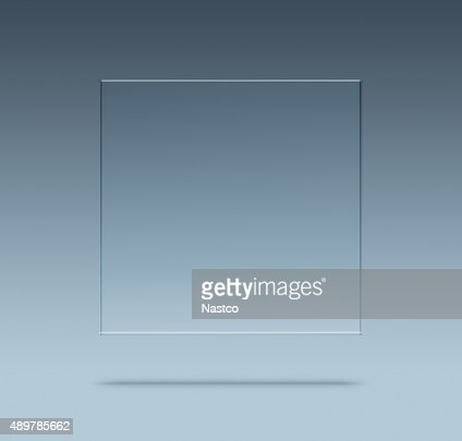 Blank glass plate : Stock Photo