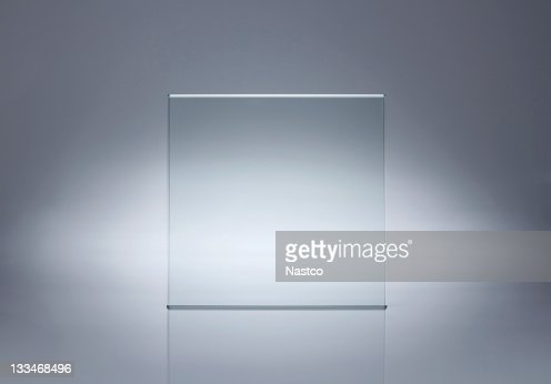 Blank glass plate with copy space : Stock Photo
