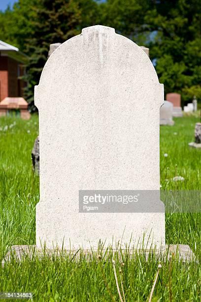 Blank gravestone in cemetary