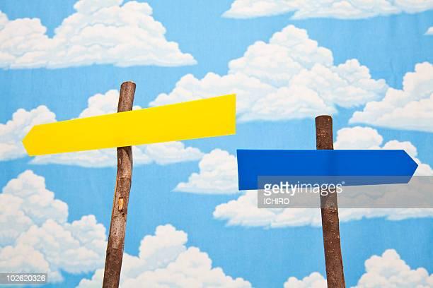 Blank guidepost.