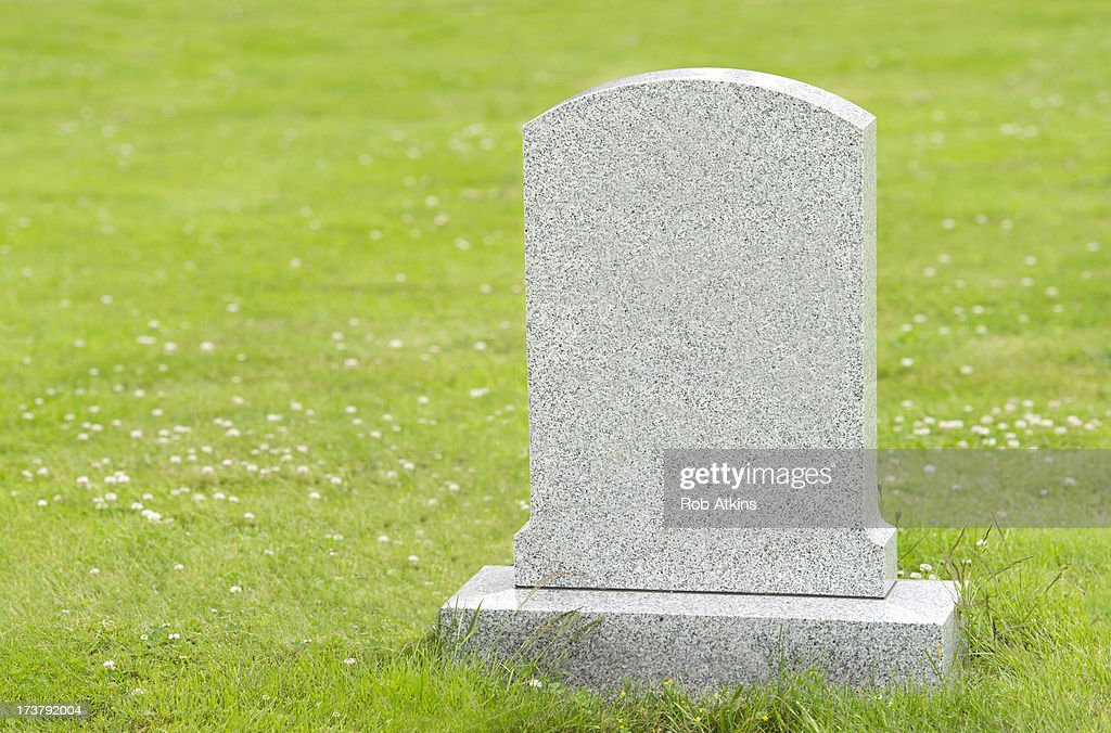Blank headstone : Stockfoto