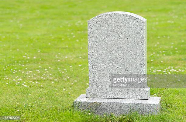 Blank headstone