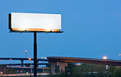 Blank Highway Billboard Sign