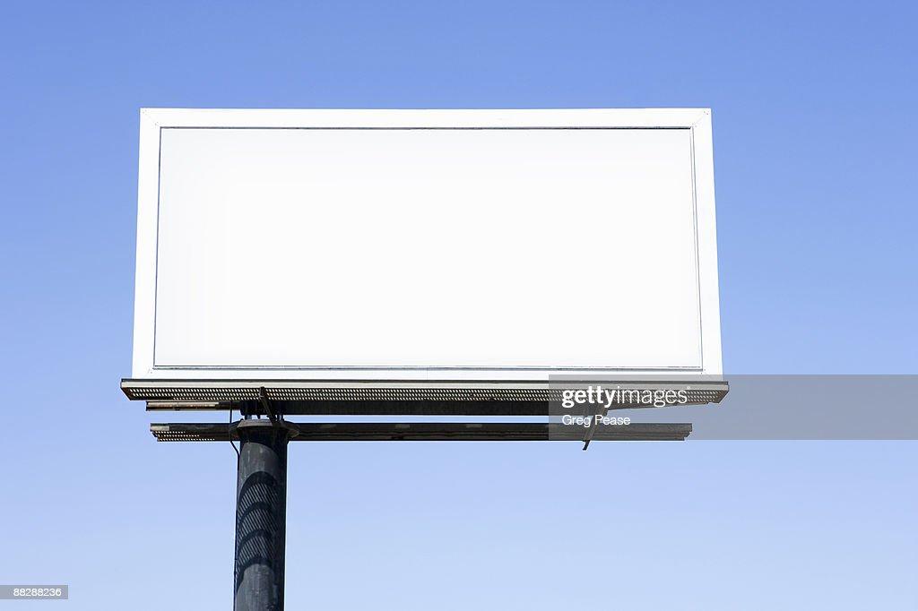 Blank Highway Billboard Sign : Stock Photo