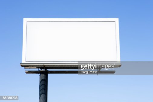 Blank Highway Billboard Sign : Stock Photo