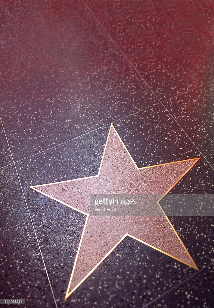 Blank hollywood star : Stock Photo
