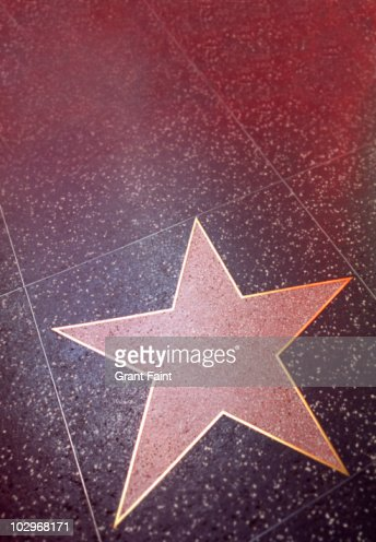 Blank hollywood star