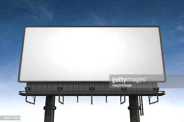 A blank horizontal billboard waits to be filled