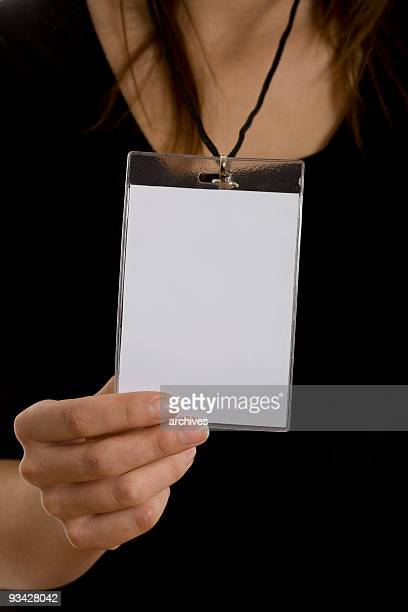 blank ID badge card