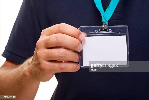 blank id badge