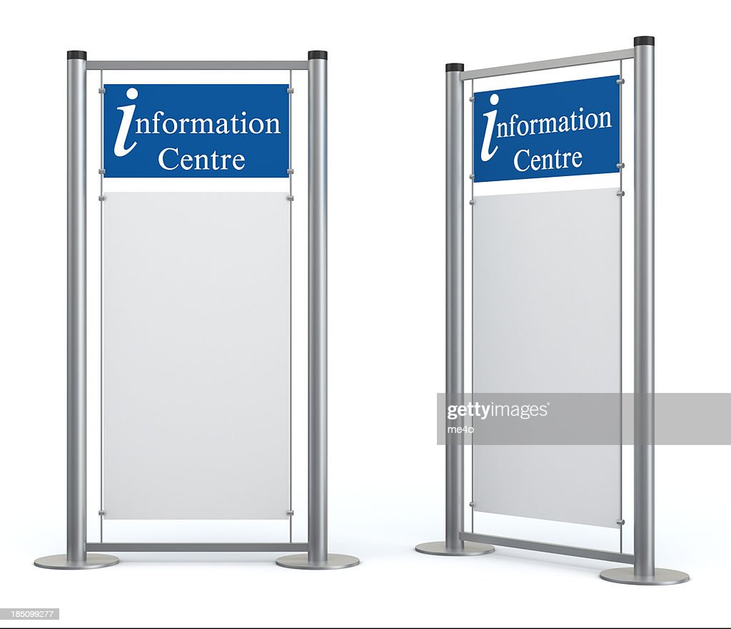 Blank information center stand