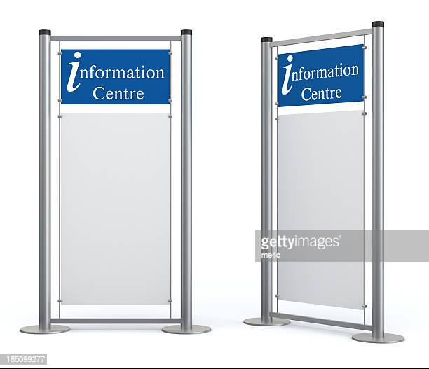 Blank information center stand