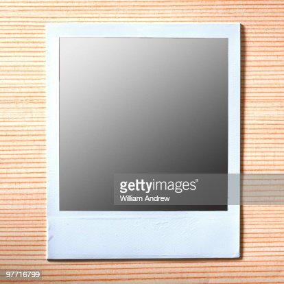 Blank Instant Film : Stock Photo