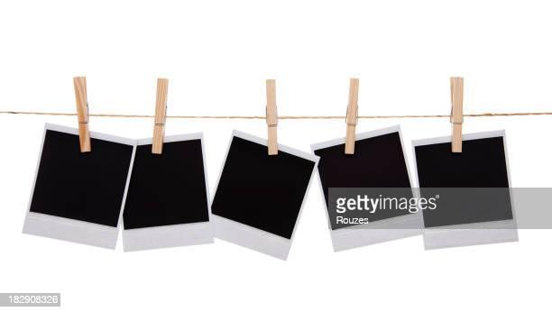 Blank instant photo prints