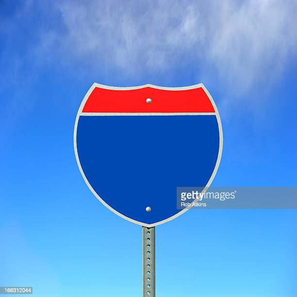 Blank interstate sign
