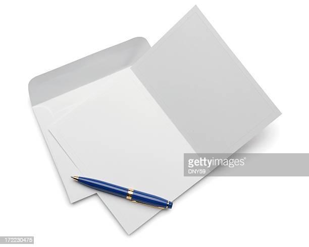 空白のご招待カード、白で分離