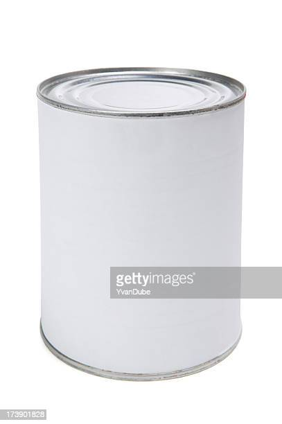 blank label on canned food
