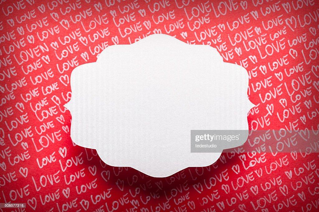 Étiquette sur fond de papier vierge : Photo