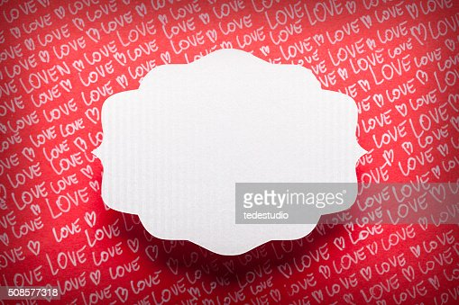 Blank label on paper background : Stock Photo