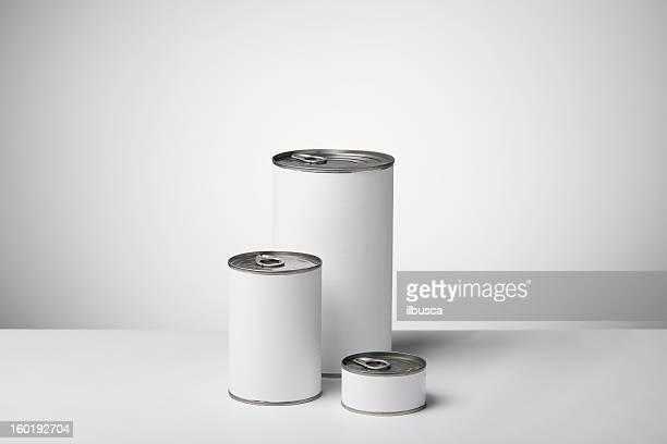 Productos de la etiqueta en blanco neutro en gradiente fondo blanco a gris