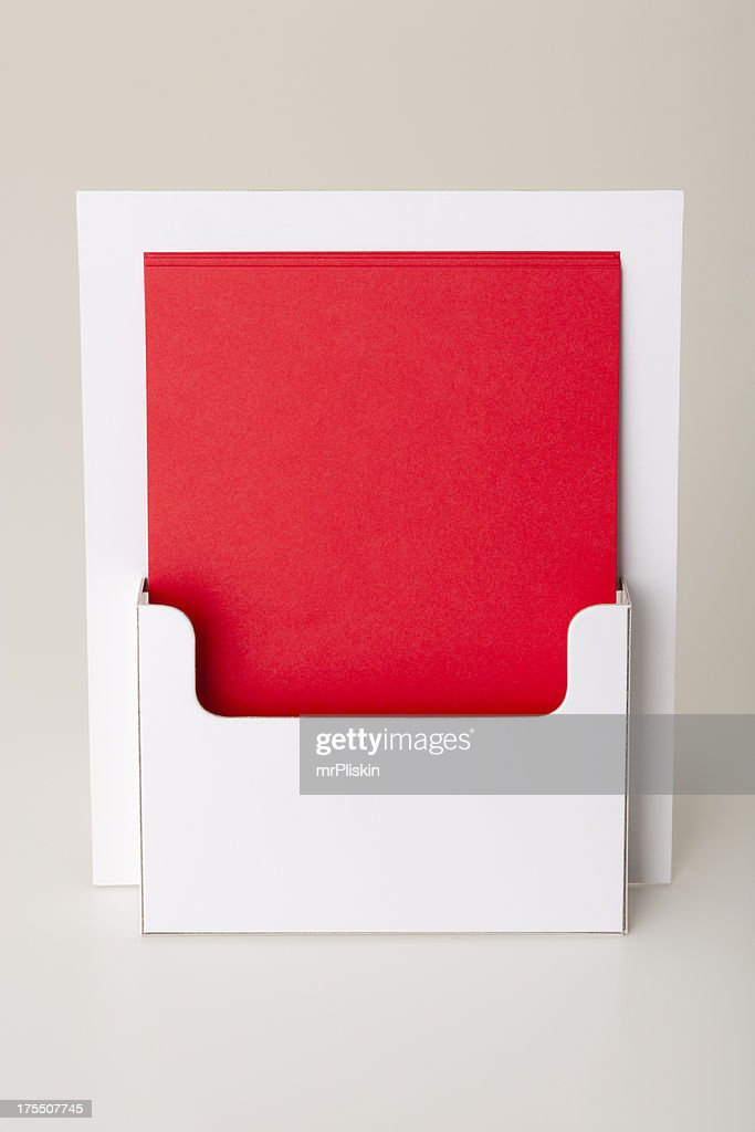 Blank leaflet holder POS