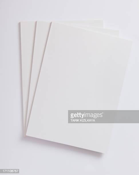 Blank magazines cover