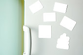 Blank Magnets on Refrigerator+(Clipping Path)