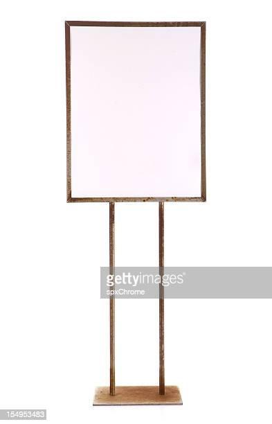 Leere Schild mit Metall-Werbung