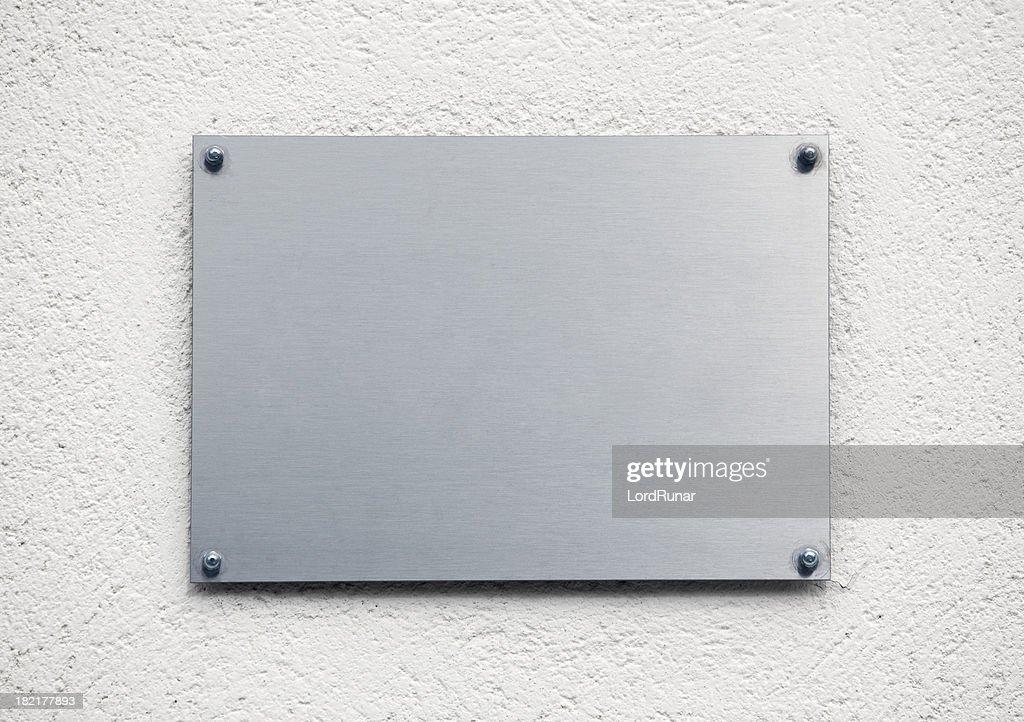Blank metal plaque