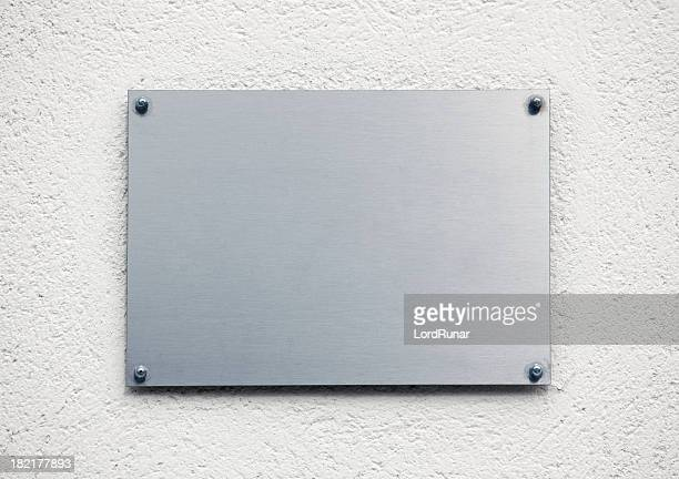 Blanco placa de metal