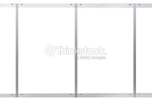 Blank Metal Window Frame At Building Wall Stock Photo | Thinkstock