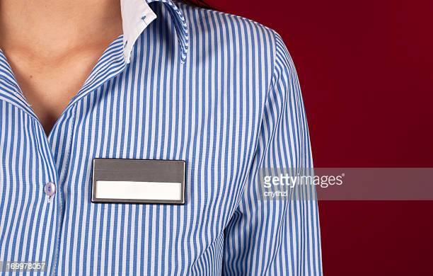 Blank Name Tag on Shirt