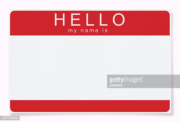 Blank Name Tag (Clipping Path)