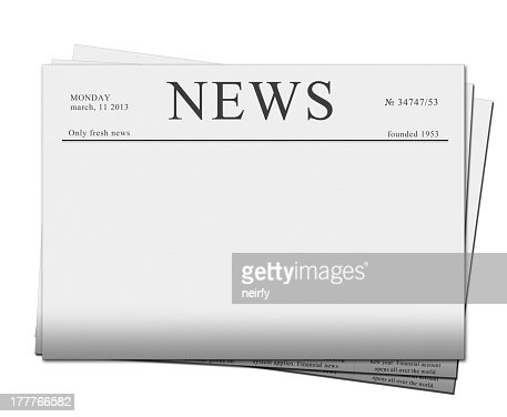 Blank Newspaper Headline Template Stock Photo  Thinkstock