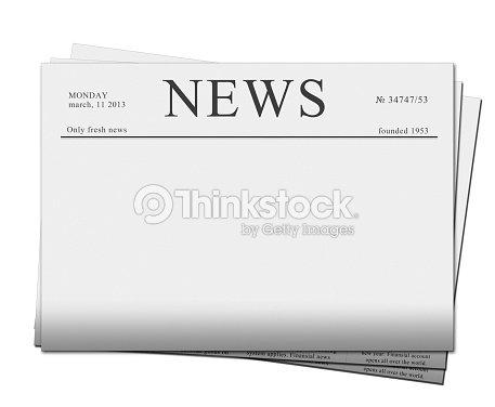 Blank Newspaper Headline Template Photo – Newspaper Headline Template