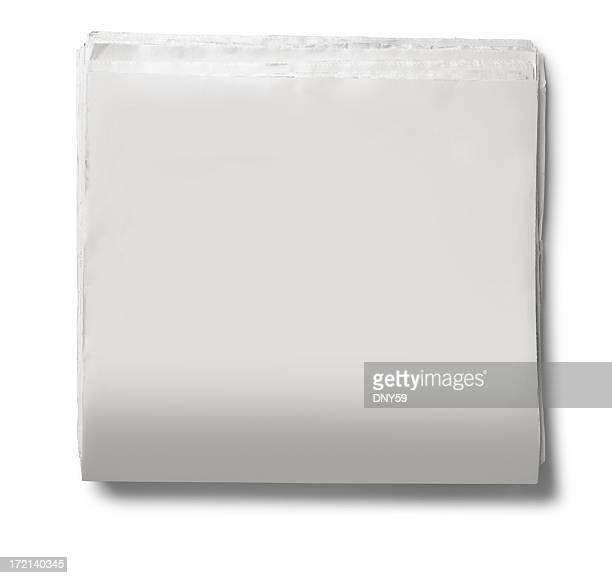 Blank journal sur fond blanc
