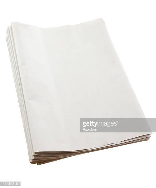 Blank newspaper pile