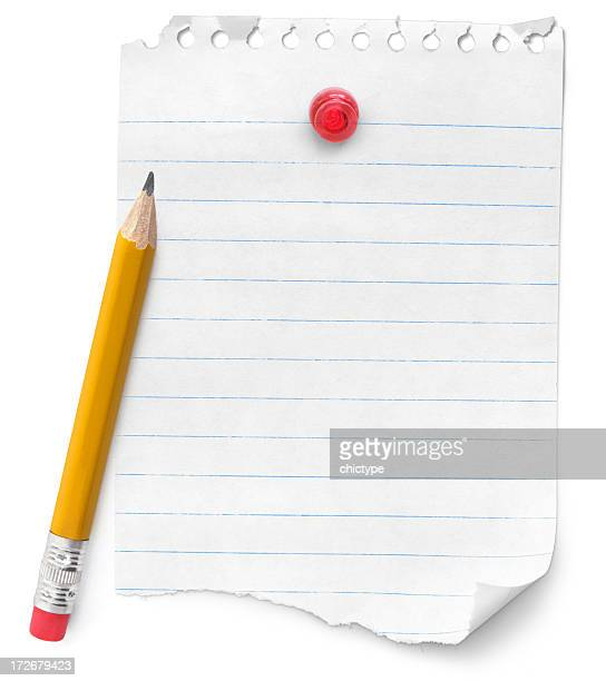 Leere Hinweis und Bleistift