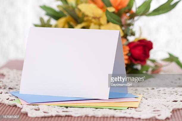 空白メモまたはグリーティングカード