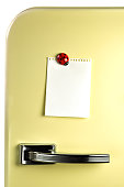Blank note on fifties fridge door, copyspace for message  [url=http://www.istockphoto.com/my_lightbox_contents.php?lightboxID=6173834][IMG]http://i60.photobucket.com/albums/h12/silberkorn/Notes.jpg[/I
