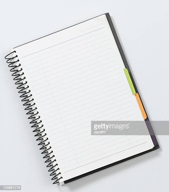 Blanko-Notizbuch mit Ledereinband