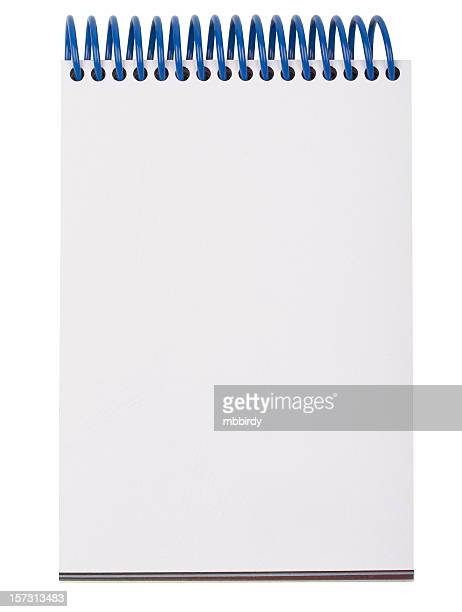 Blank notepad (clipping path), isolated on white background
