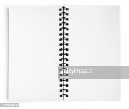 Blank notepad tied together with a black spiral