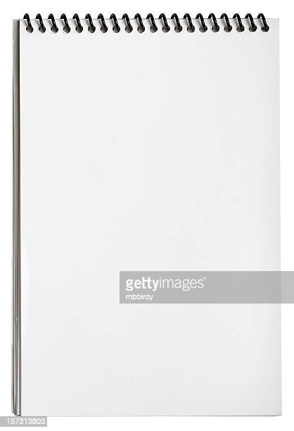 Blank notepad with clipping path, isolated on white