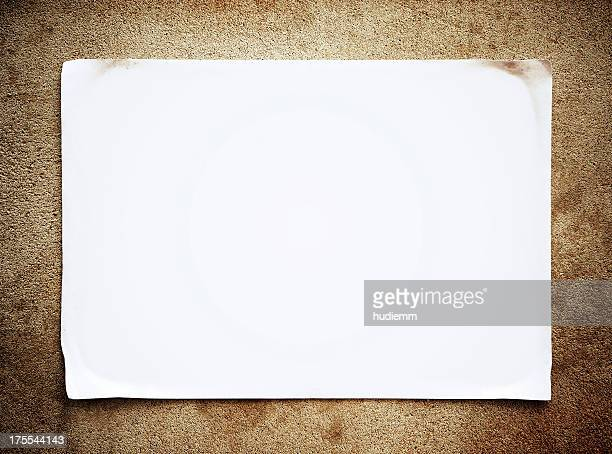 Aviso em branco textura de fundo