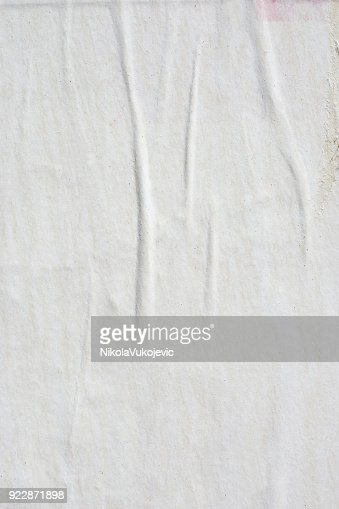 Blank old ripped torn crumpled creased posters grunge textures backdrop backgrounds : Stock Photo