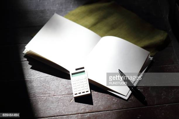 blank open book and pen,korean traditional background