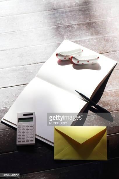 blank open book and pen,korean traditional