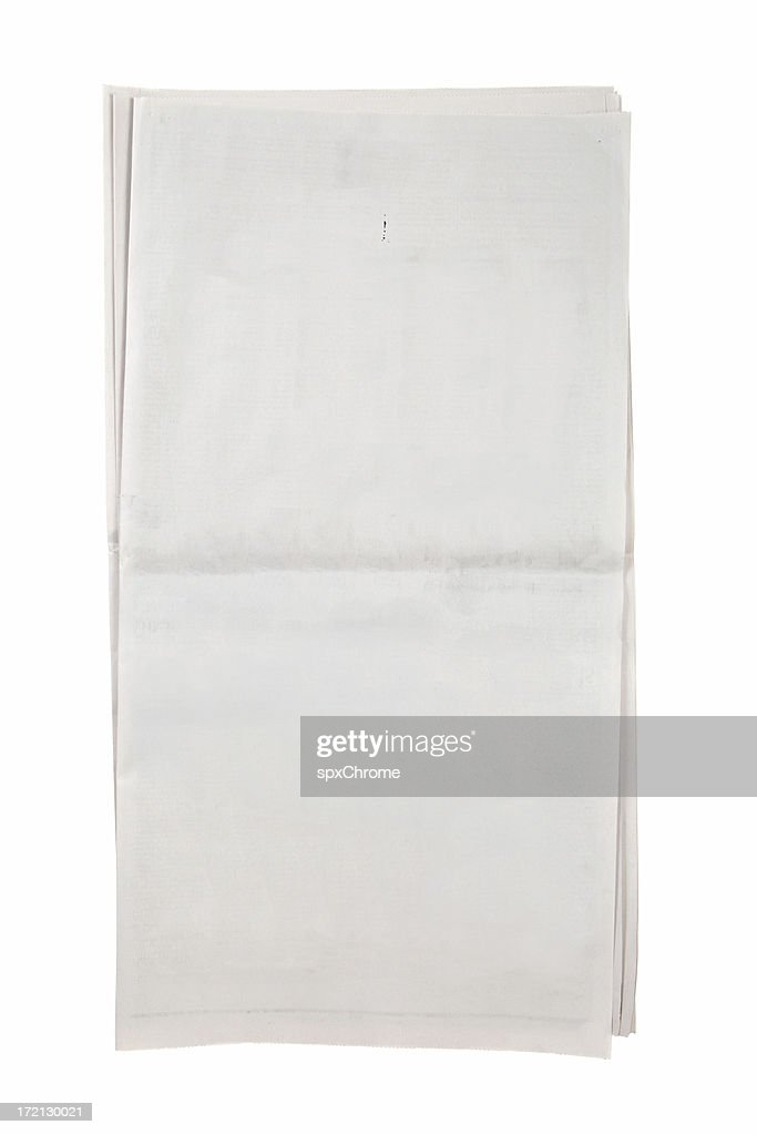 Blank Open Newspaper