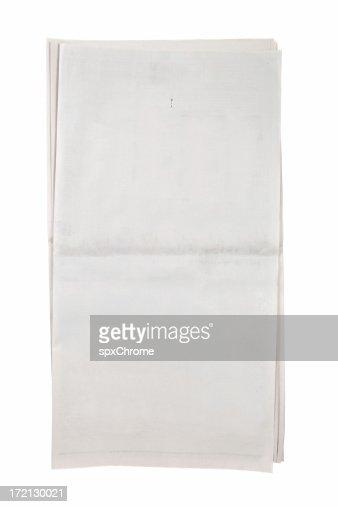 Blank Open Newspaper